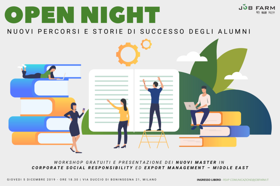 Open night nuovi percorsi e storie di successo degli alumni